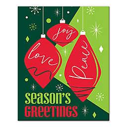 Seasons Greetings Ornaments 8x10 Canvas Wall Art