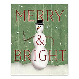 Merry & Bright Snowman 8x10 Canvas Wall Art