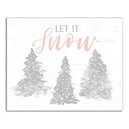 Let it Snow 8x10 Canvas Wall Art