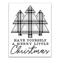 Merry Little Christmas 11x14 Canvas Wall Art