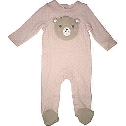 Sterling Baby Newborn Sherpa Bear Footie in Pink