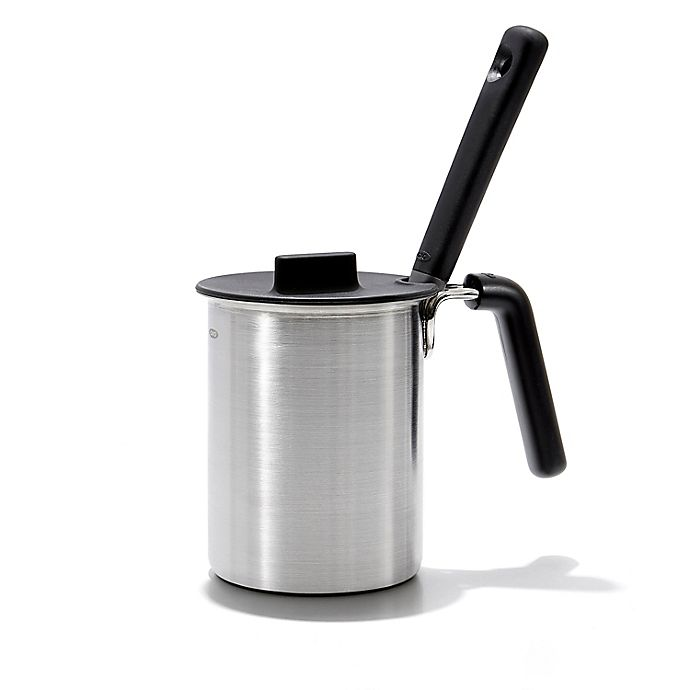 Alternate image 1 for OXO Good Grips® 3-Piece Stainless Steel Grilling Basting Pot and Brush