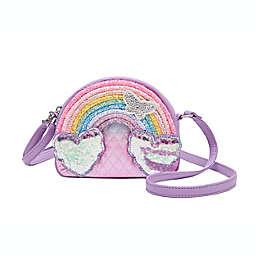 OMG Accessories Glitter Rainbow Handbag