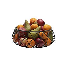 Scott Living Catalyst Iron 13-Inch Centerpiece Basket in Black
