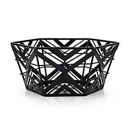 Scott Living Luxe Iron 10-Inch Centerpiece Basket in Black