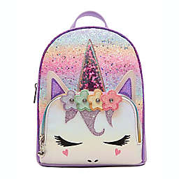 OMG Accessories Miss Gwen Ombre Glitter Lavender Mini Backpack in Lavender