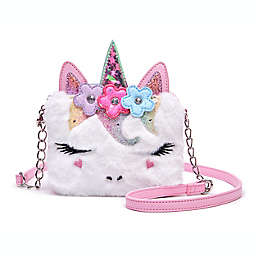 OMG Accessories Miss Gwen Plush Flower Crown Crossbody Bag in White
