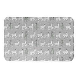 Deer and Tree Pattern Bath Mat