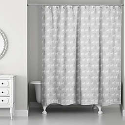 Deer and Tree Pattern Shower Curtain