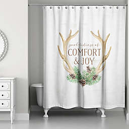 Comfort & Joy Shower Curtain