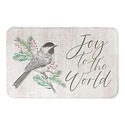 Joy to the World Bird on Branch Bath Mat