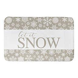 "Designs Direct Snowflakes 34"" x 21"" Bath Mat"