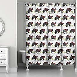 Black Bear Pattern Shower Curtain