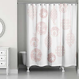 Sparkly Blush Ornaments Shower Curtain