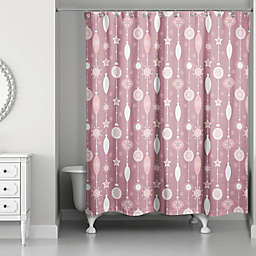 Pink Ornaments Shower Curtain