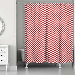 Candy Stripe Pattern Shower Curtain