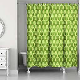 Christmas Tree Pattern Shower Curtain