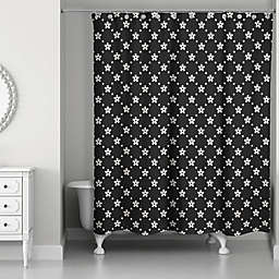 Stars and Snow Pattern Shower Curtain