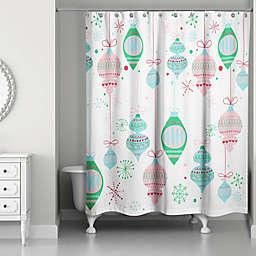 Retro Funky Ornaments Shower Curtain