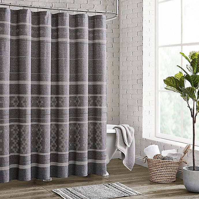 Alternate image 1 for 72-Inch x 72-Inch Meera Shower Curtain in Grey
