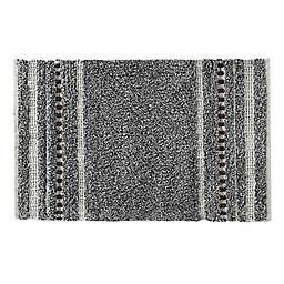 Meera 30-Inch x 20-Inch Bath Rug in Grey
