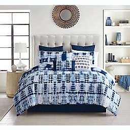 Debra Valencia™ Home Toshi 9-Piece Reversible Comforter Set in Blue