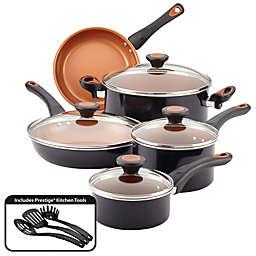 Farberware® Glide™ Nonstick Copper Ceramic 12-Piece Cookware Set in Black