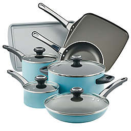Farberware® High Performance Nonstick Aluminum 17-Piece Cookware Set in Aqua