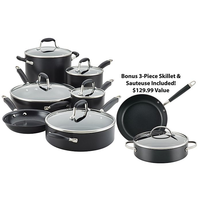 Alternate image 1 for Anolon® Advanced™ Home Hard-Anodized Nonstick 11-Piece Cookware Set in Onyx