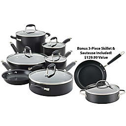 Anolon® Advanced™ Home Hard-Anodized Nonstick 11-Piece Cookware Set in Onyx