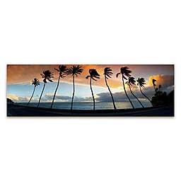Colossal Images Lahaina Maui Palms Canvas Print Wall Art