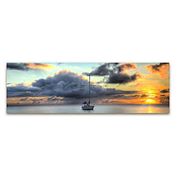 Colossal Images Boat & Clouds Canvas Wall Art