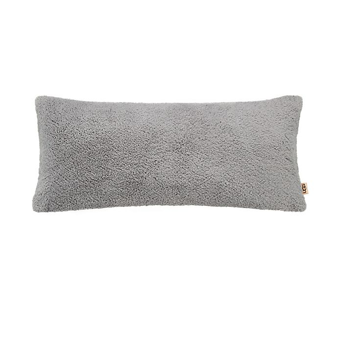 Alternate image 1 for UGG® Teddy Bolster Throw Pillow in Seal Grey
