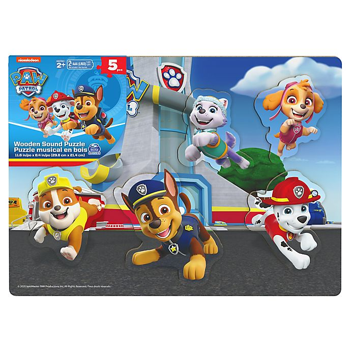 Alternate image 1 for Spin Master™ Nickelodeon™ PAW Patrol 6-Piece Wooden Puzzle