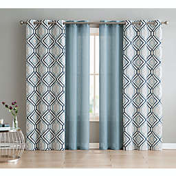 VCNY Home Jackston 4-Pack Grommet Light Filtering Window Curtain Panels