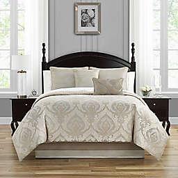 Waterford® Morovan 4-Piece Reversible Comforter Set in Taupe/Aqua