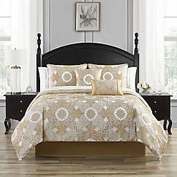 Waterford® Piazza 4-Piece Reversible Comforter Set in Ivory