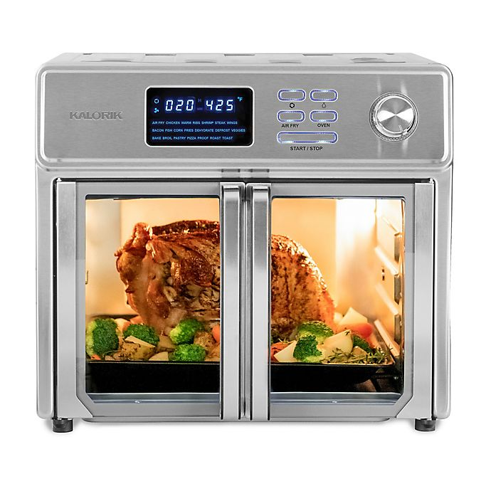 Alternate image 1 for Kalorik® 26 qt. Digital Maxx Air Fryer Oven in Stainless Steel