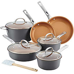Ayesha Curry™ Nonstick Hard Anodized Aluminum 11-Piece Cookware Set in Charcoal Grey