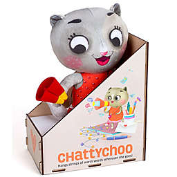 Chalk 'N Chuckles Chattychoo Plush Kitty Toy in Grey