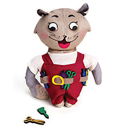 Chalk 'N Chuckles Maker Max Plush Kitty Toy in Grey