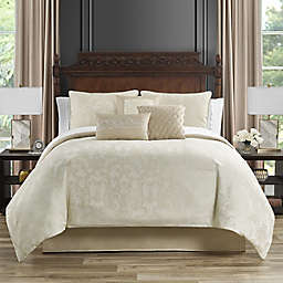 Marquis® by Waterford Bridget 7-Piece Full/Queen Comforter Set in Gold