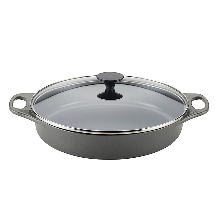 Alternate image 1 for Rachael Ray™ 3.5 qt. Cast Iron Covered Braiser in Grey Shimmer