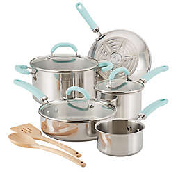 Rachael Ray™ Create Delicious Stainless Steel 10-Piece Cookware Set in Blue