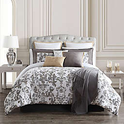 Reverie 14-Piece Comforter Set in Grey/Gold