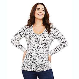 Motherhood Maternity® Long Sleeve Side Ruched Maternity T-Shirt