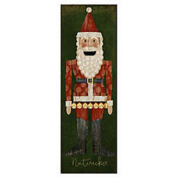 Masterpiece Art Gallery Beth Albert Nutcracker Santa 12-Inch x 36-Inch Canvas Wall Art