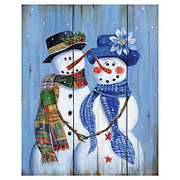 Masterpiece Art Gallery Baby It's Cold Outside 16-Inch x 20-Inch Canvas Wall Art