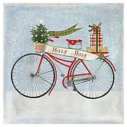 Masterpiece Art Gallery Beth Albert Christmas Bicycle 20-Inch x 20-Inch Canvas Wall Art