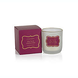 Zodax Fig Tea & Almond Milk Small Frosted Boxed Jar Candle with Gold Rim in Purple